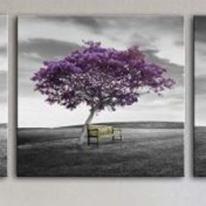 Other - NEW - 3 panel purple trees on canvas